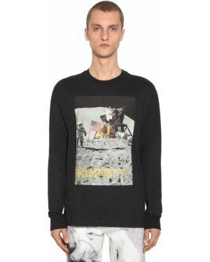 Czarny t-shirt z długimi rękawami bawełniany Calvin Klein Established 1978