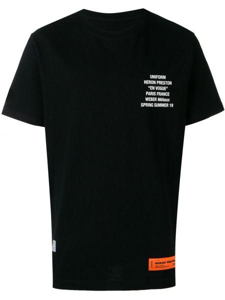 Koszula krótkie z krótkim rękawem z logo prosto Heron Preston