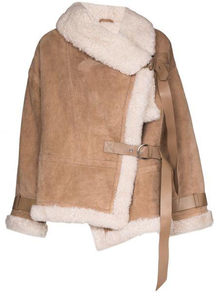 Brązowa ciepła kurtka z długimi rękawami Shoreditch Ski Club