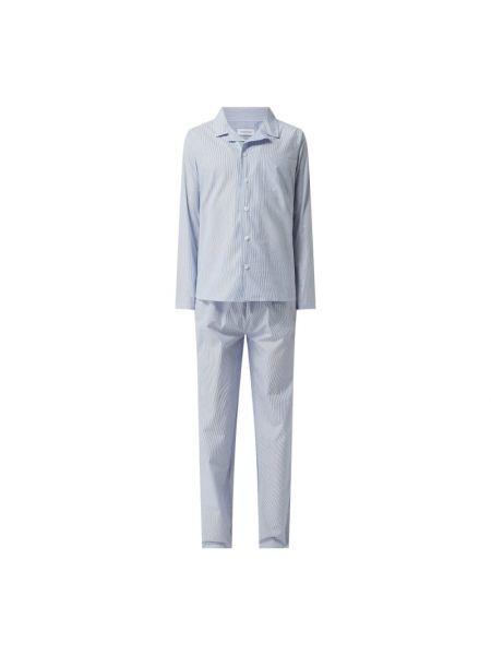 Spodni piżama bawełniana z długimi rękawami w paski Seidensticker