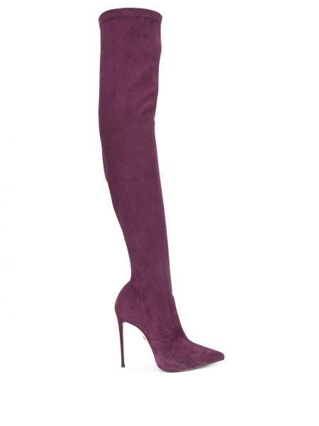 Кожаные ботфорты - фиолетовые Le Silla