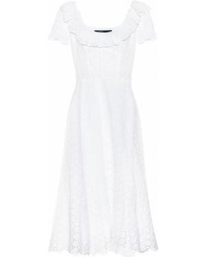 Платье миди с вышивкой льняное Polo Ralph Lauren