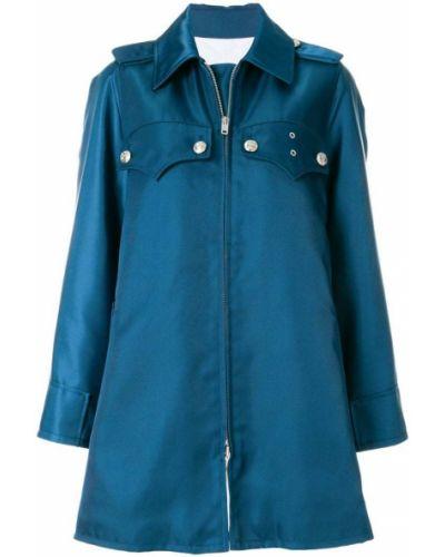 Синее пальто с капюшоном Calvin Klein 205w39nyc