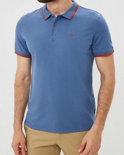 Синее поло с коротким рукавом Tom Tailor