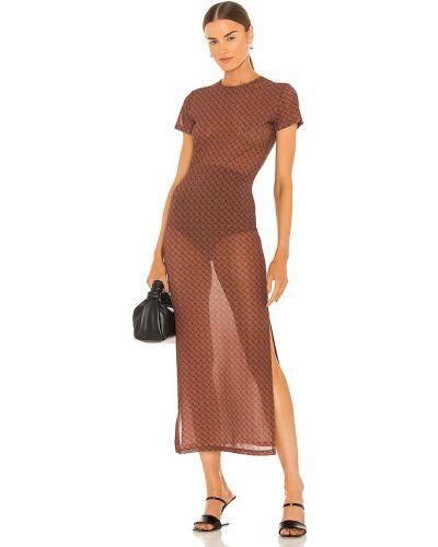 Brązowa sukienka z siateczką Miaou