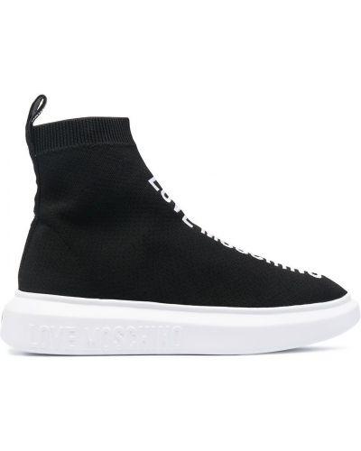 Массивные черные носки Love Moschino