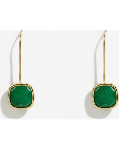 Серебряные серьги зеленый универсальный Parfois