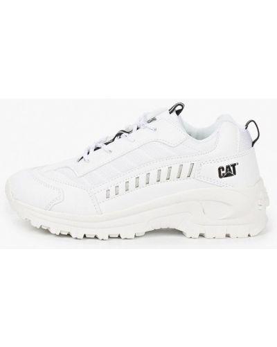 Кожаные белые кроссовки Caterpillar