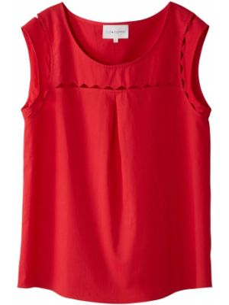 Малиновая блузка с коротким рукавом из вискозы с короткими рукавами круглая Sud Express
