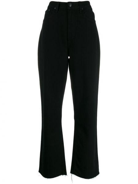 Прямые джинсы с завышенной талией - черные Rag & Bone/jean