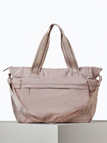 Спортивная сумка розовый весенний Oysho
