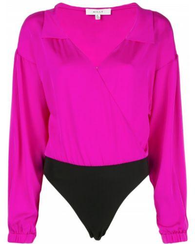 Блузка шелковая с воротником-стойкой Milly