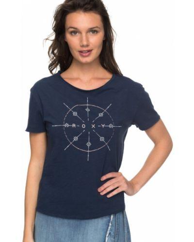 Синее платье футболка Roxy