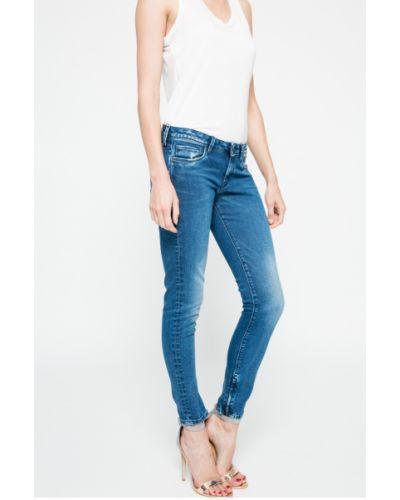 Джинсы-скинни с низкой посадкой с эффектом потертости Pepe Jeans