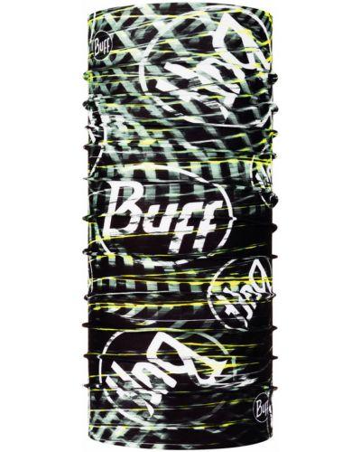 Czarny szalik materiałowy bezszwowy Buff