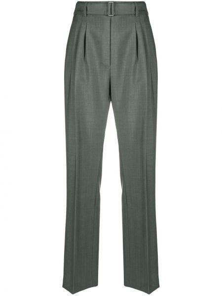 Прямые брюки из мохера с карманами с высокой посадкой Christian Wijnants