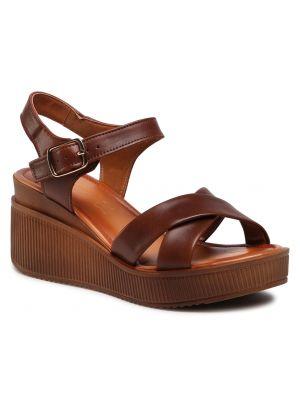 Brązowe sandały skorzane Lasocki