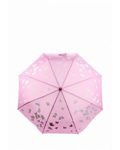 Зонт складной розовый Flioraj