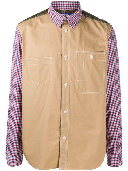 Прямая рубашка с воротником с заплатками с карманами Junya Watanabe Man