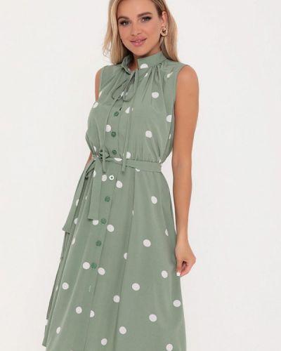 Прямое зеленое платье А-силуэта Magnet