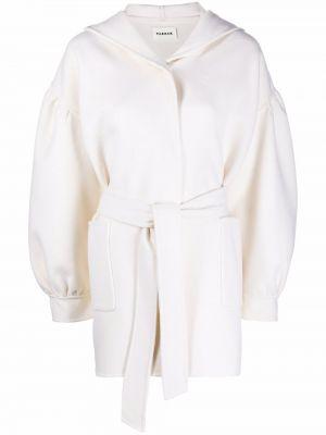 Белое длинное пальто P.a.r.o.s.h.