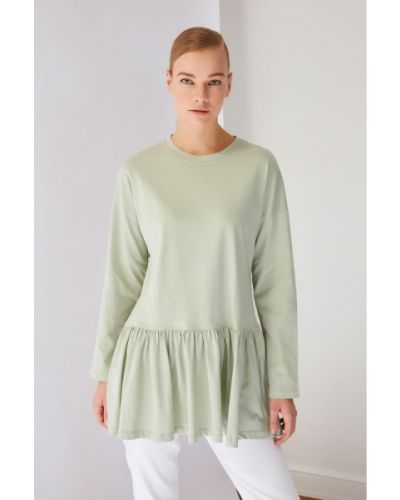 Zielona tunika bawełniana Koton