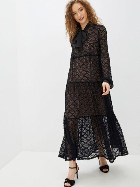 Черное вечернее платье Imago