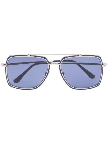 Niebieski okulary przeciwsłoneczne metal Tom Ford