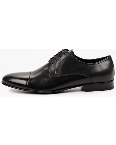 Черные кожаные дерби Roberto Piraloff