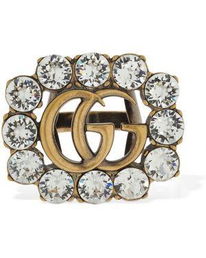 Pierścień szary kryształ Gucci