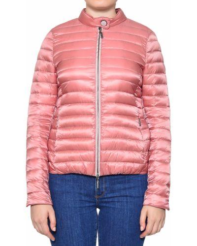 Пуховик из полиамида - розовый Moorer