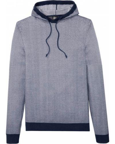 Синий пуловер с капюшоном Bonprix
