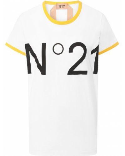 Футболка с надписью - белая No. 21