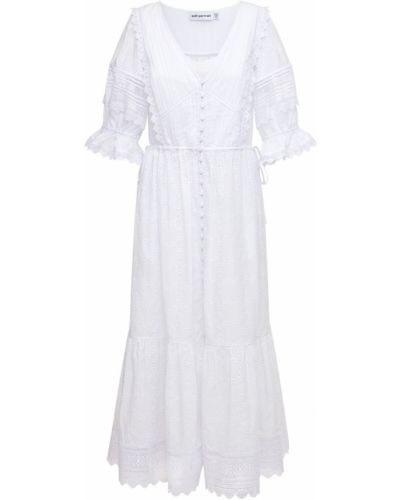 Платье миди - белое Self-portrait