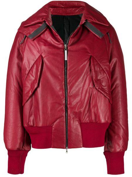 Красная кожаная короткая куртка на молнии Isaac Sellam Experience