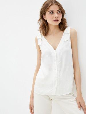 Бежевая блузка без рукавов Naf Naf