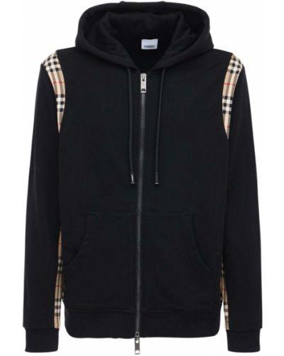 Bawełna bawełna czarny bluza z kapturem Burberry