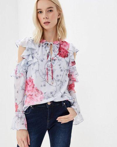 Серая блузка с открытыми плечами Ted Baker London