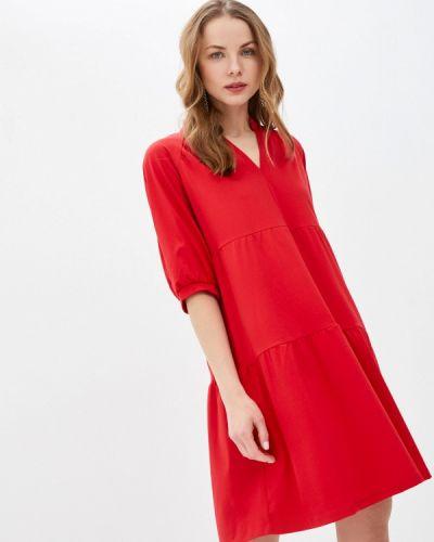 Прямое красное платье А-силуэта Vittoria Vicci