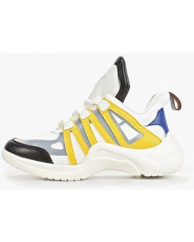 Кожаные высокие кроссовки - белые Dino Albat