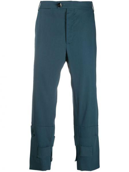 Шерстяные синие брюки чиносы Namacheko