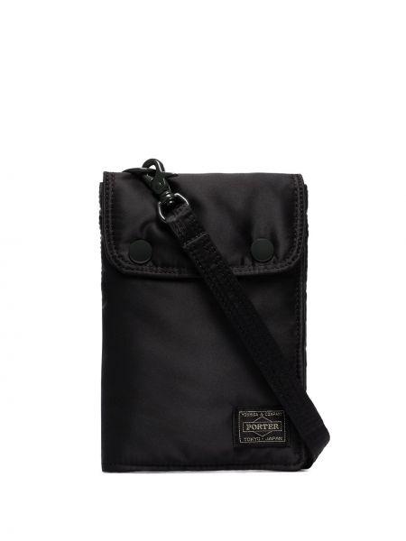 Клатч черный с заплатками Porter-yoshida & Co.