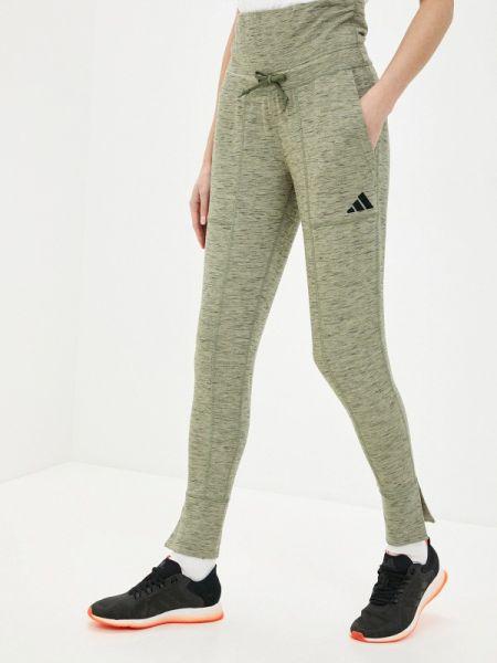 Зеленые спортивные брюки Adidas