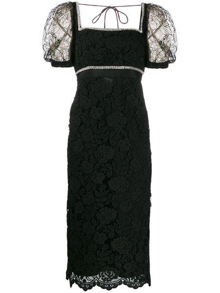 Платье мини миди черное Self-portrait