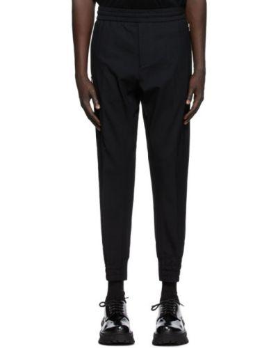 Брючные черные брюки стрейч с манжетами Wooyoungmi
