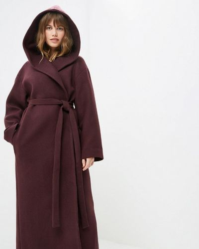 Пальто демисезонное бордовый Pepen