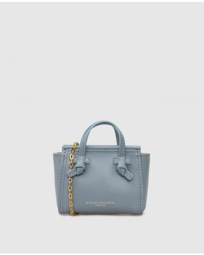 Кожаная сумка - голубая Gianni Chiarini