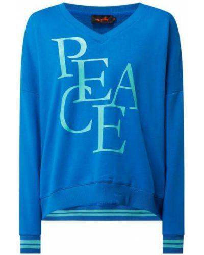 Bluza z nadrukiem z printem - niebieska Miss Goodlife