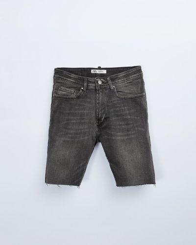 Черные джинсовые шорты с карманами Zara