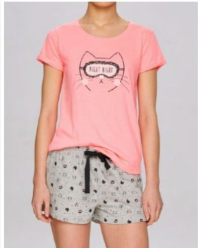 Пижамная хлопковая розовая пижама с шортами Atlantic